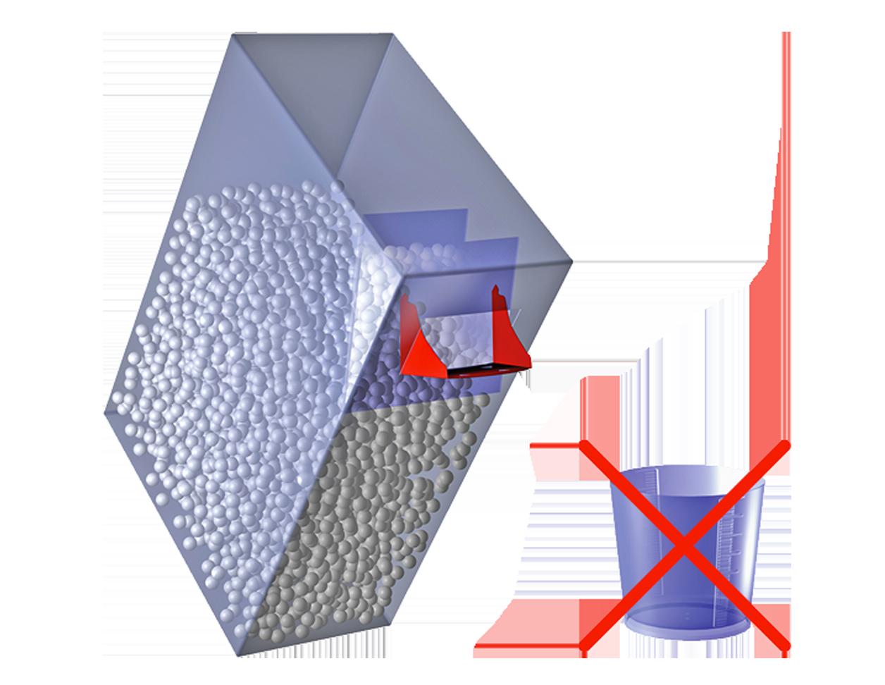 Astuccio ecologico monomateriale in cartoncino con erogatore richiudibile e misurino monodose integrato